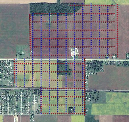 Shot & Receiver Layout of a 350 Acre 3D